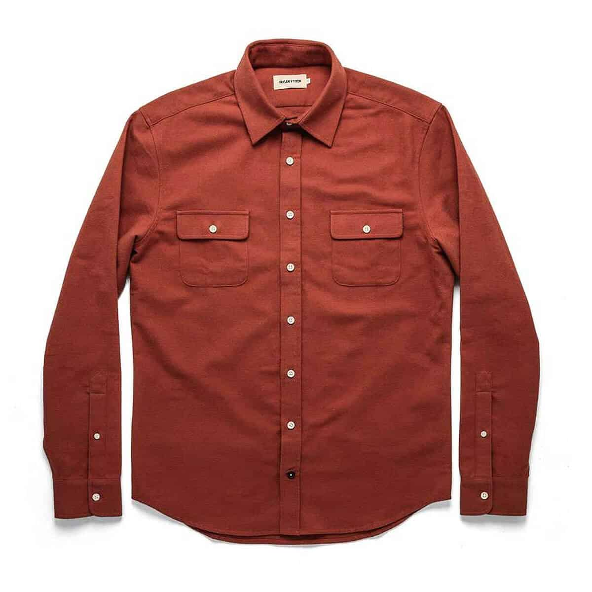 Taylor Stitch: The Yosemite Shirt in Dusty Red