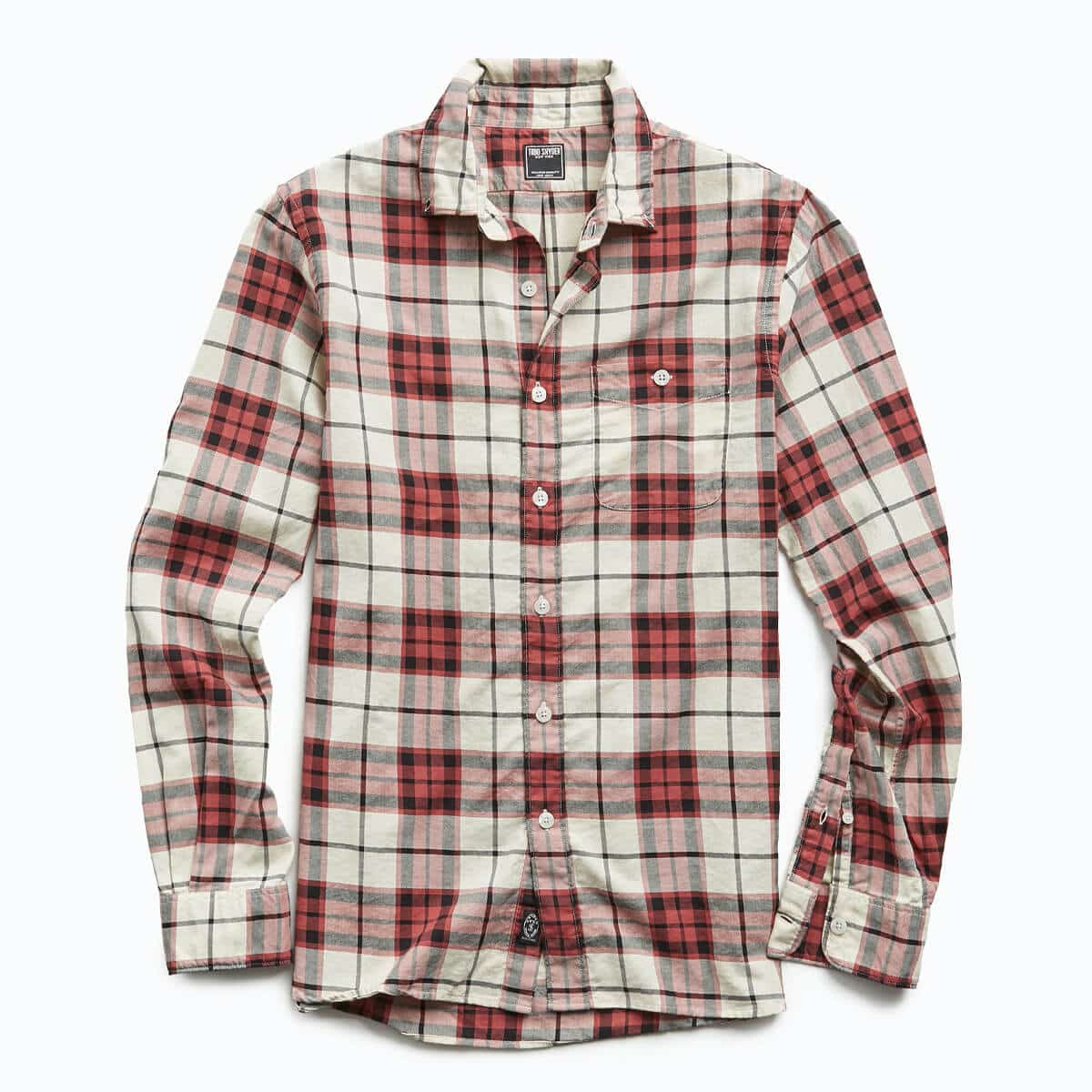 Todd Snyder - Portuguese Red Plaid Flannel Shirt