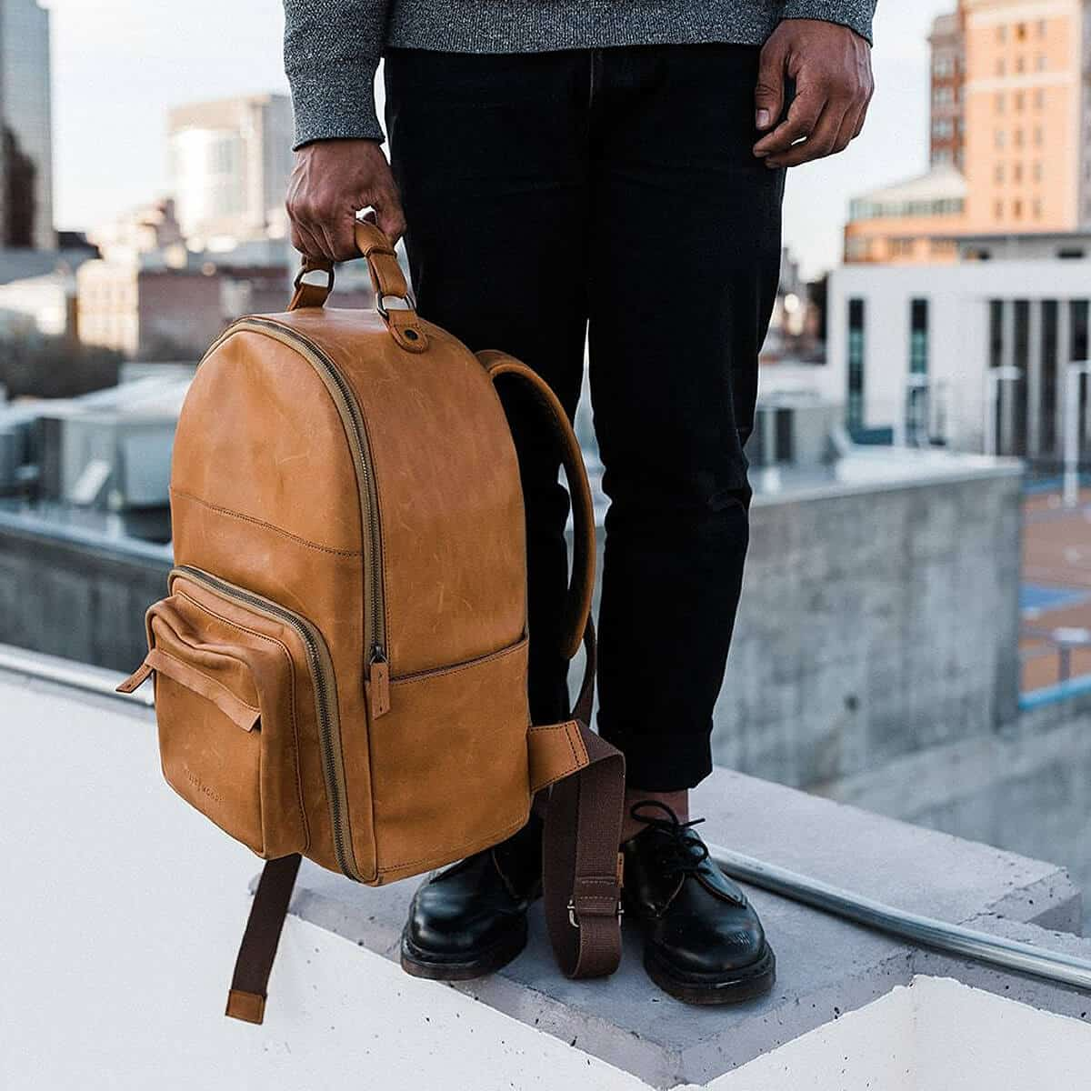 The Tourist - Full Grain Leather Backpack