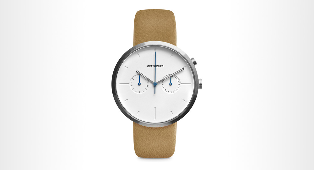 Grey Hours - Vision Classic Silver Minimalist Watch