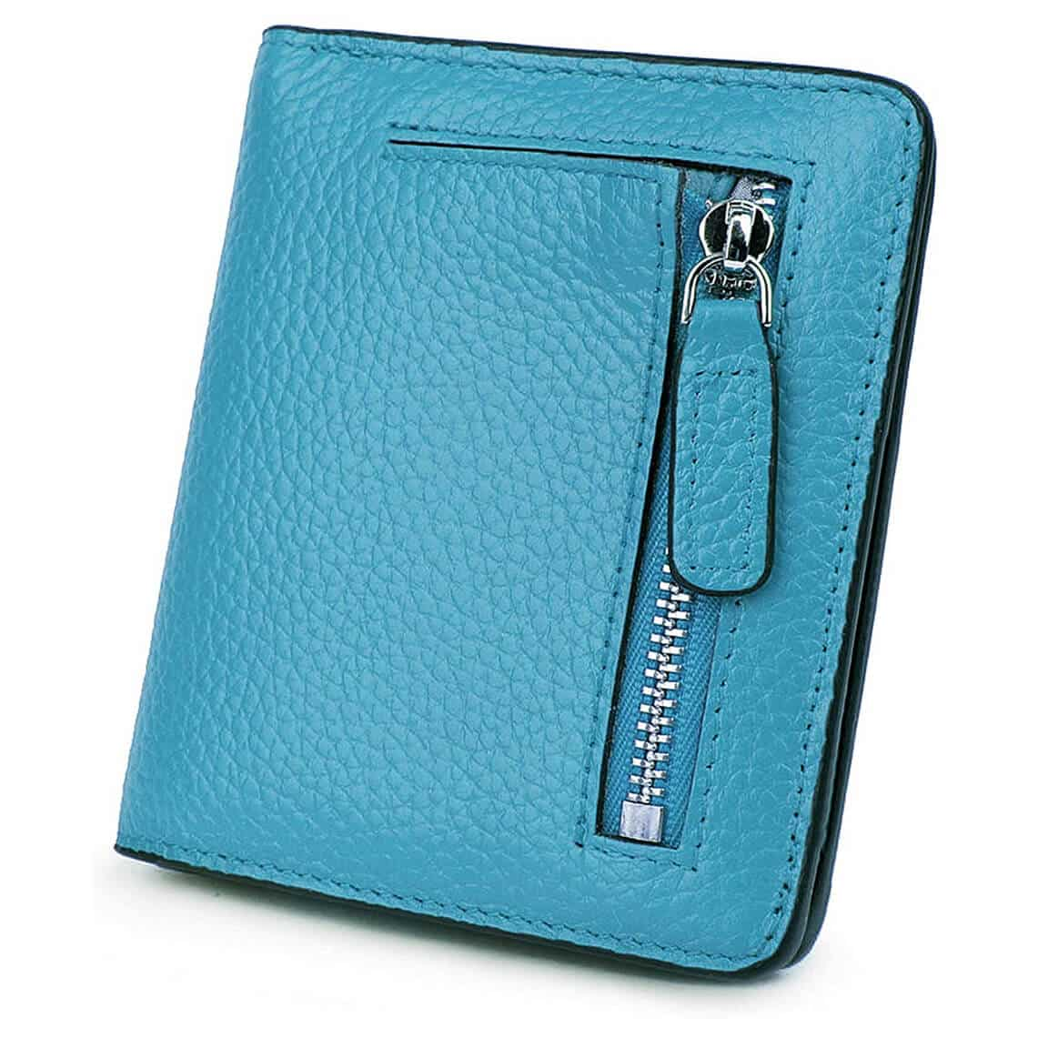 AINIMOER Small Leather Wallet for Women