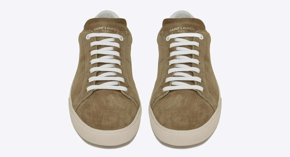 Saint Laurent COURT CLASSIC SL/06 SNEAKERS IN LEATHER AND SUEDE