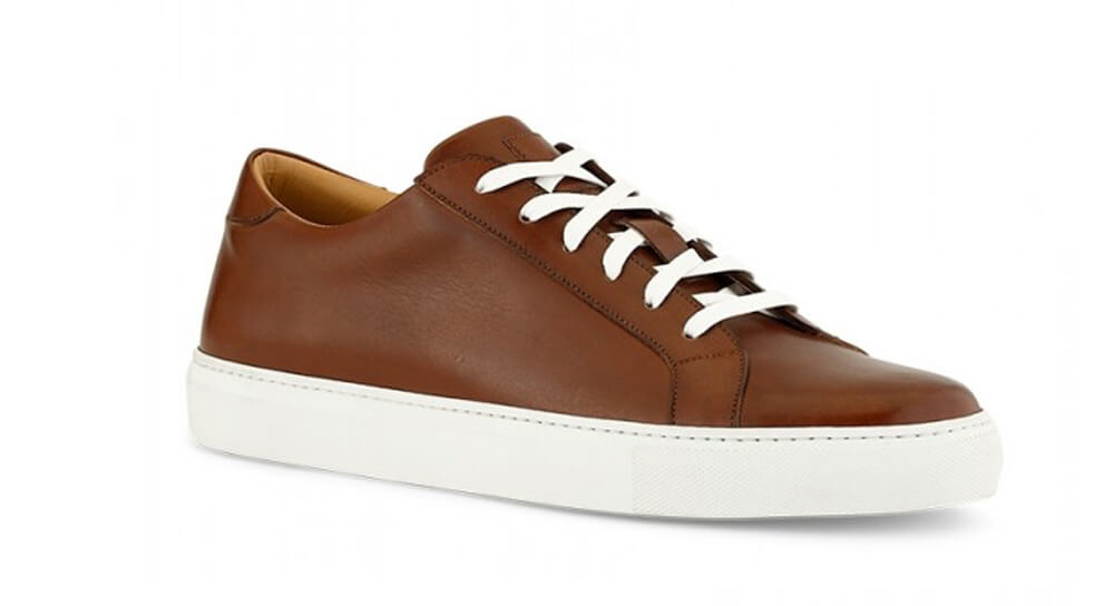 Dress Sneakers in Brown With White Outsole