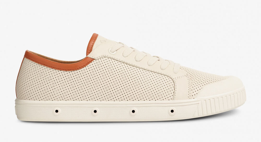 SpringCourt - G2 Vintage and Brown Punched Leather Sneaker