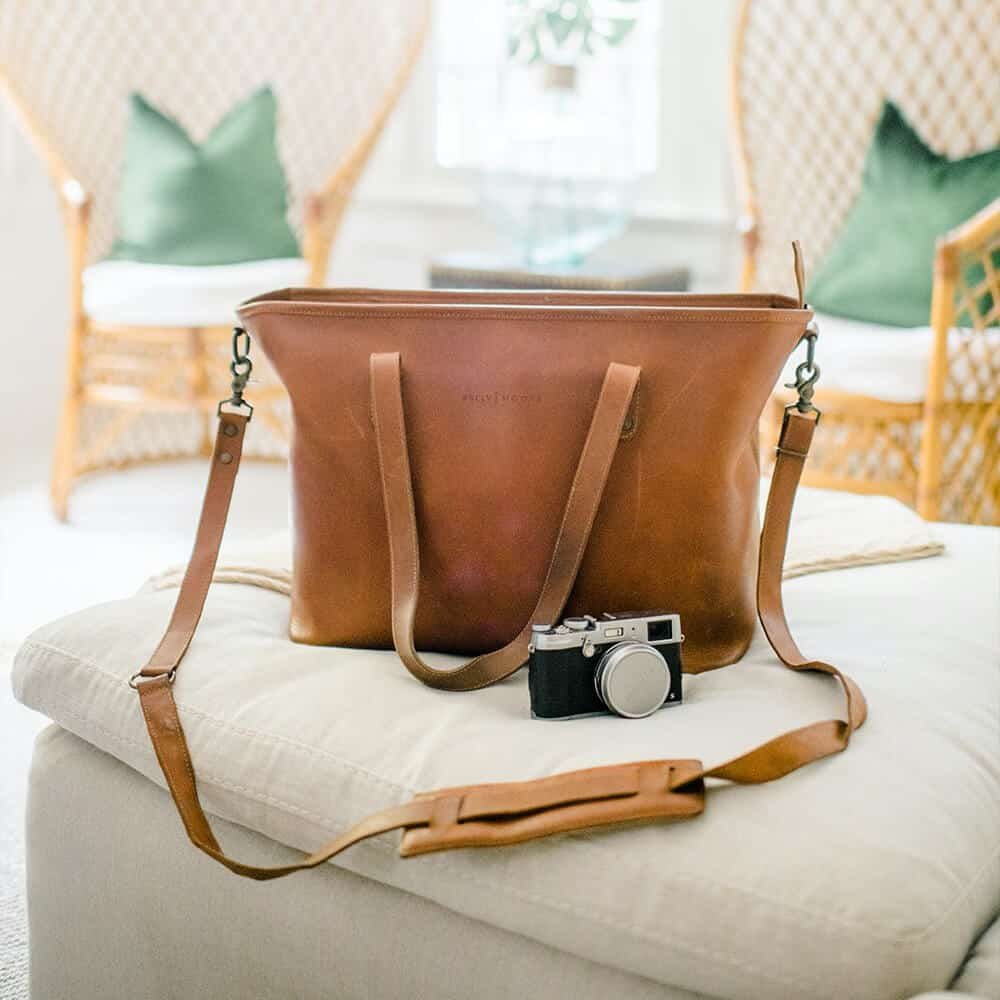 Kelly Moore The Weekender - Full Grain Leather Oversized Camera Tote