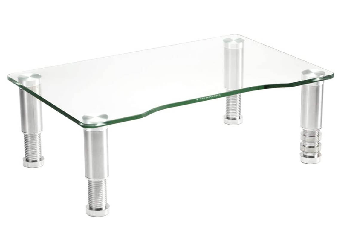 Clear Tempered Glass Computer Monitor Riser