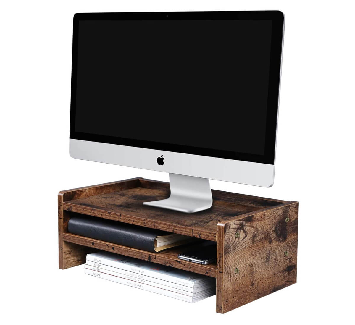 OROPY Wood Monitor Stand Riser