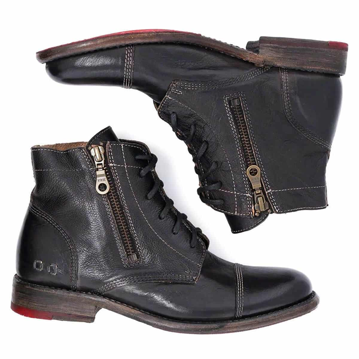Bed|Stu Bonnie Women's Distressed Leather Lace Up Boot