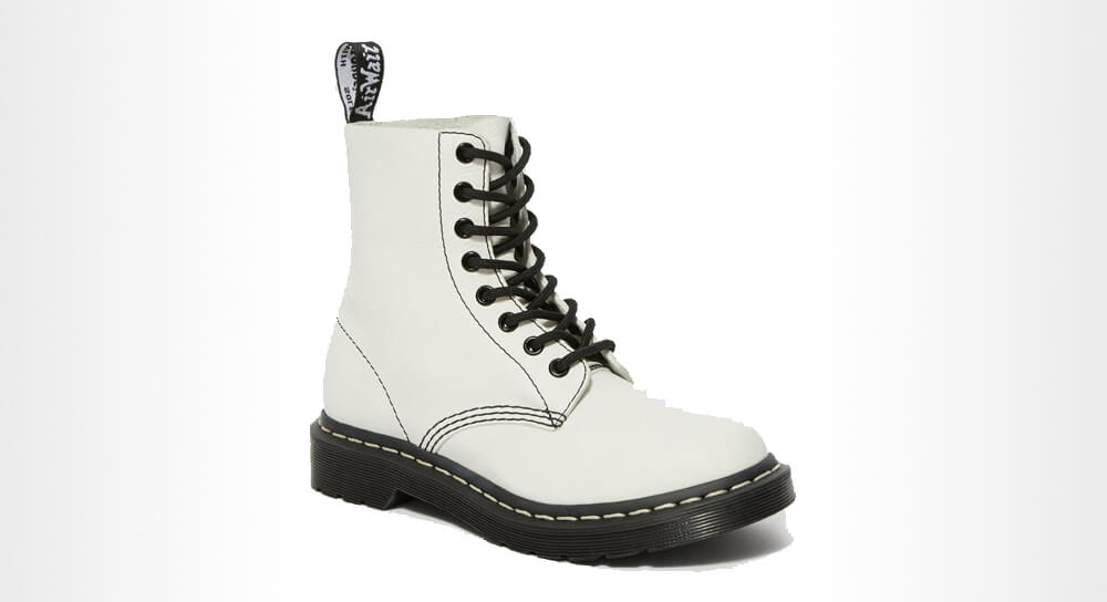 Dr. Martens - 1460 PASCAL VIRGINIA WOMEN'S BLACK & WHITE UP BOOTS
