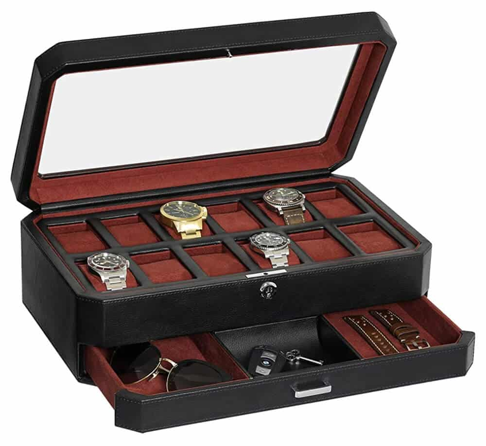 Rothwell - Watch Box with Valet Drawer for Men