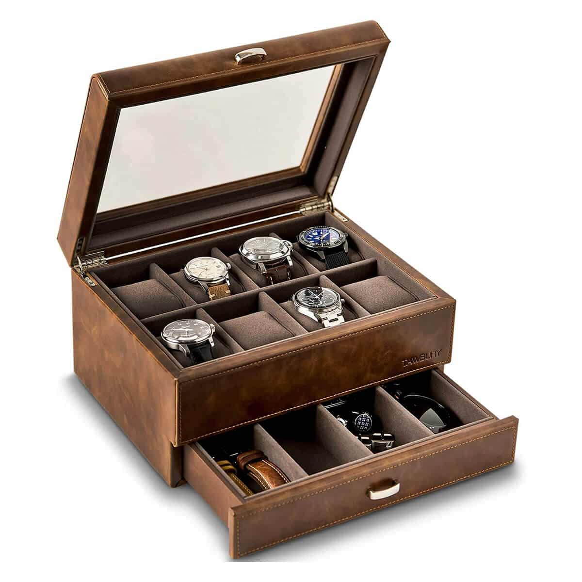 TAWBURY 8 Watch Case with Drawer