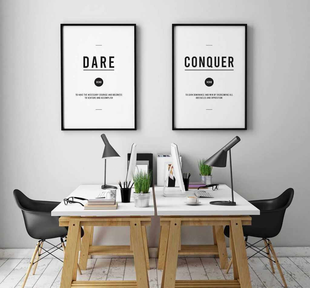 25 Inspirational Wall Art Ideas for Your Office