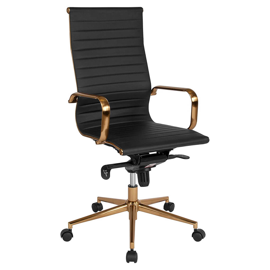 Flash Furniture Ribbed Leather Executive Swivel Chair