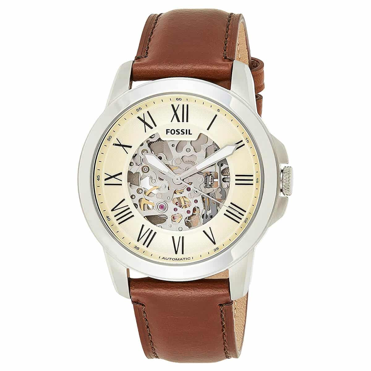 Fossil Men's Grant Automatic Stainless Steel Mechanical Watch