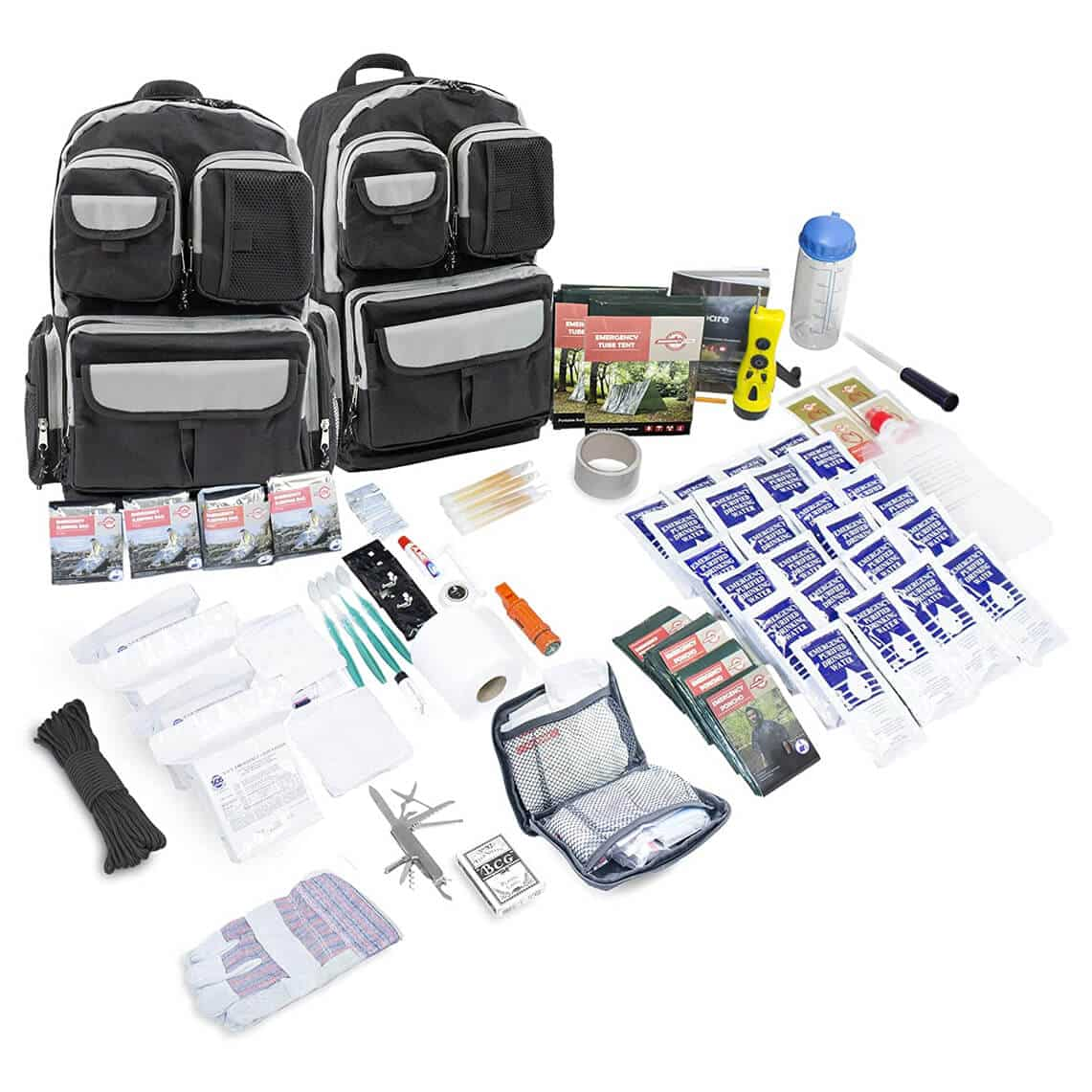 Emergency Zone 4 Person Urban Survival 72-Hour Bug Out/Go Bag