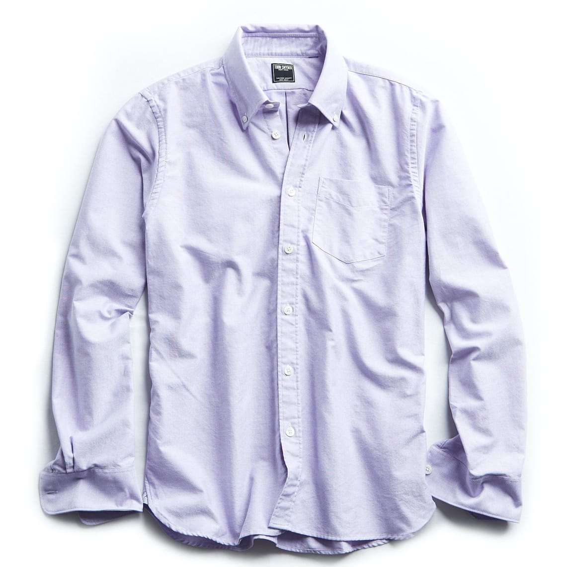 Todd Snyder SOLID OXFORD SHIRT IN PURPLE