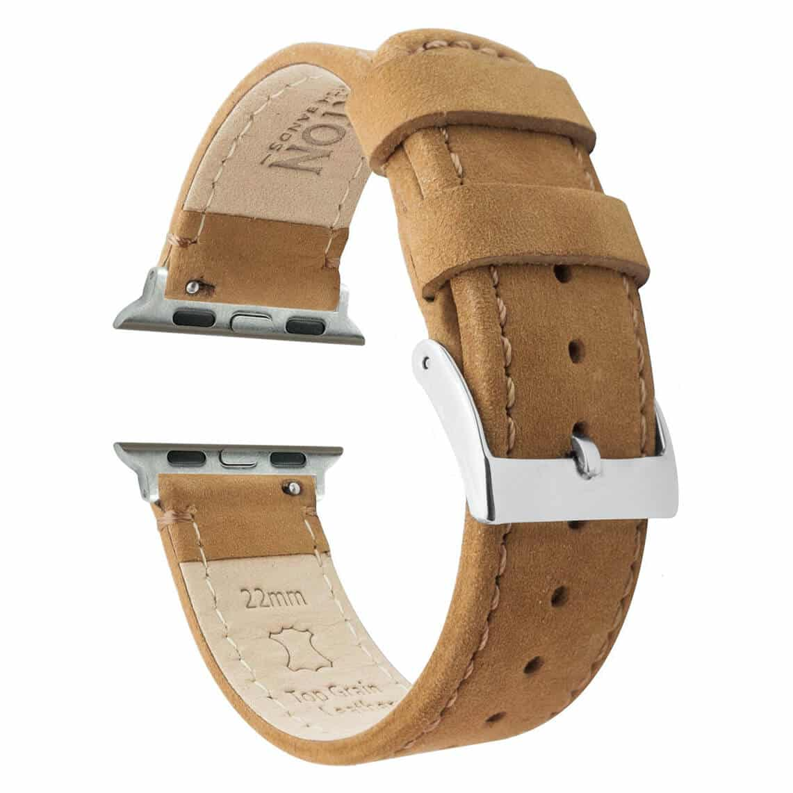 Barton Apple Watch Band with Gingerbread Leather