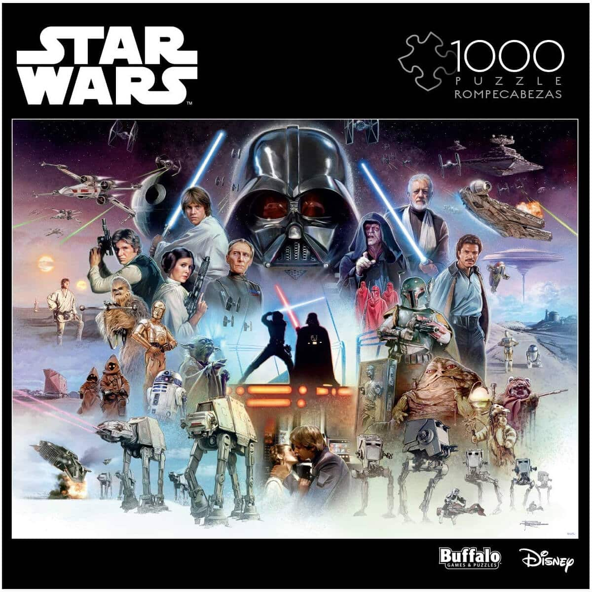 Buffalo Games Star Wars - The Force is with You, Young Skywalker - 1000 Piece Jigsaw Puzzle