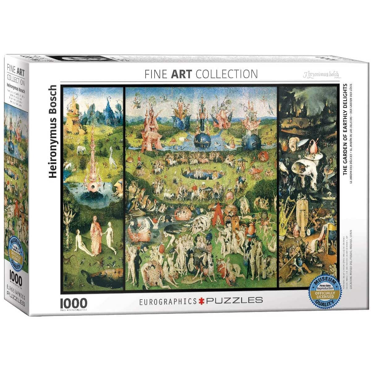 EuroGraphics The Garden of Earthly Delights by Heironymus Bosch (1000 Piece) Puzzle