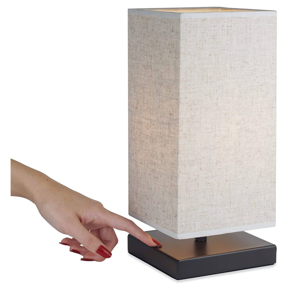 """Kira Home Lucerna 13"""" Touch Bedside LED Table Lamp"""