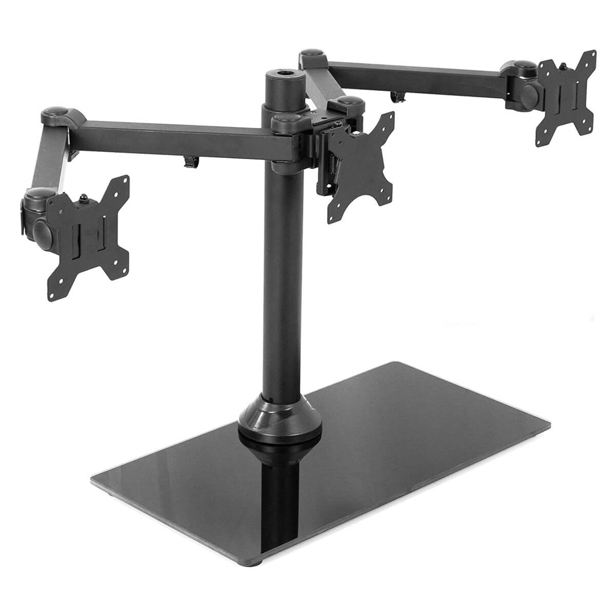 VIVO Black Triple Monitor Mount
