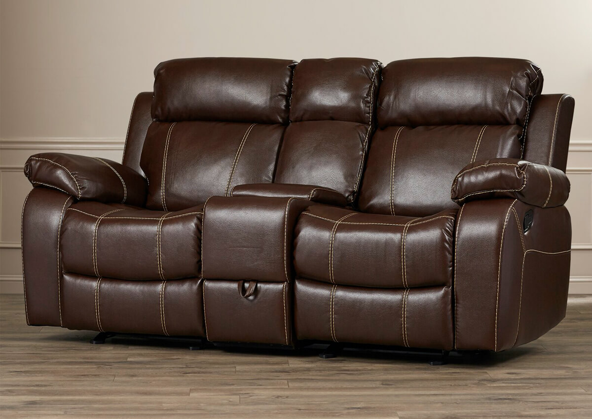 """Tuthill 78"""" Wide Faux Leather Pillow Top Arm Reclining Loveseat"""