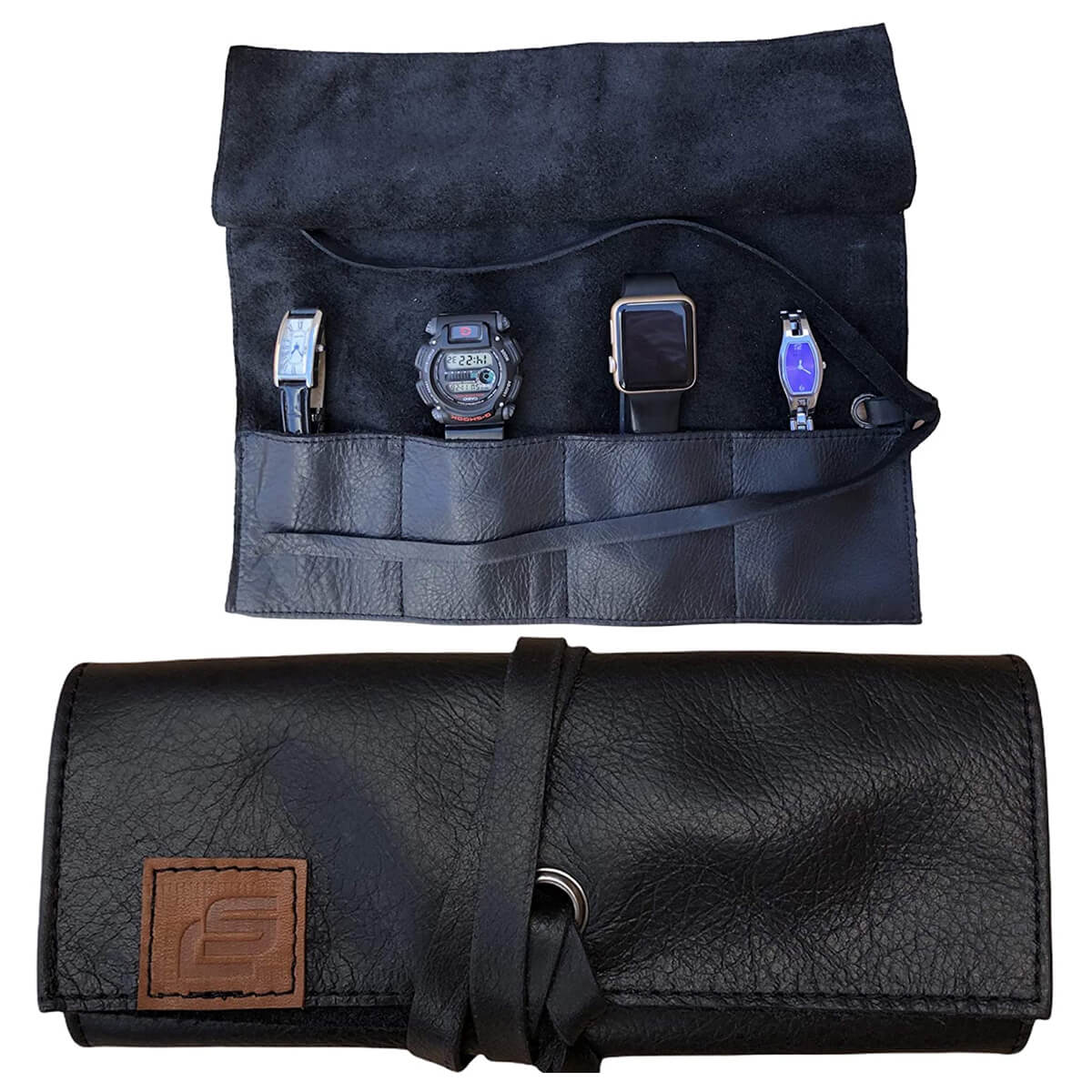 Colton Scott Creations Leather Travel Watch Roll