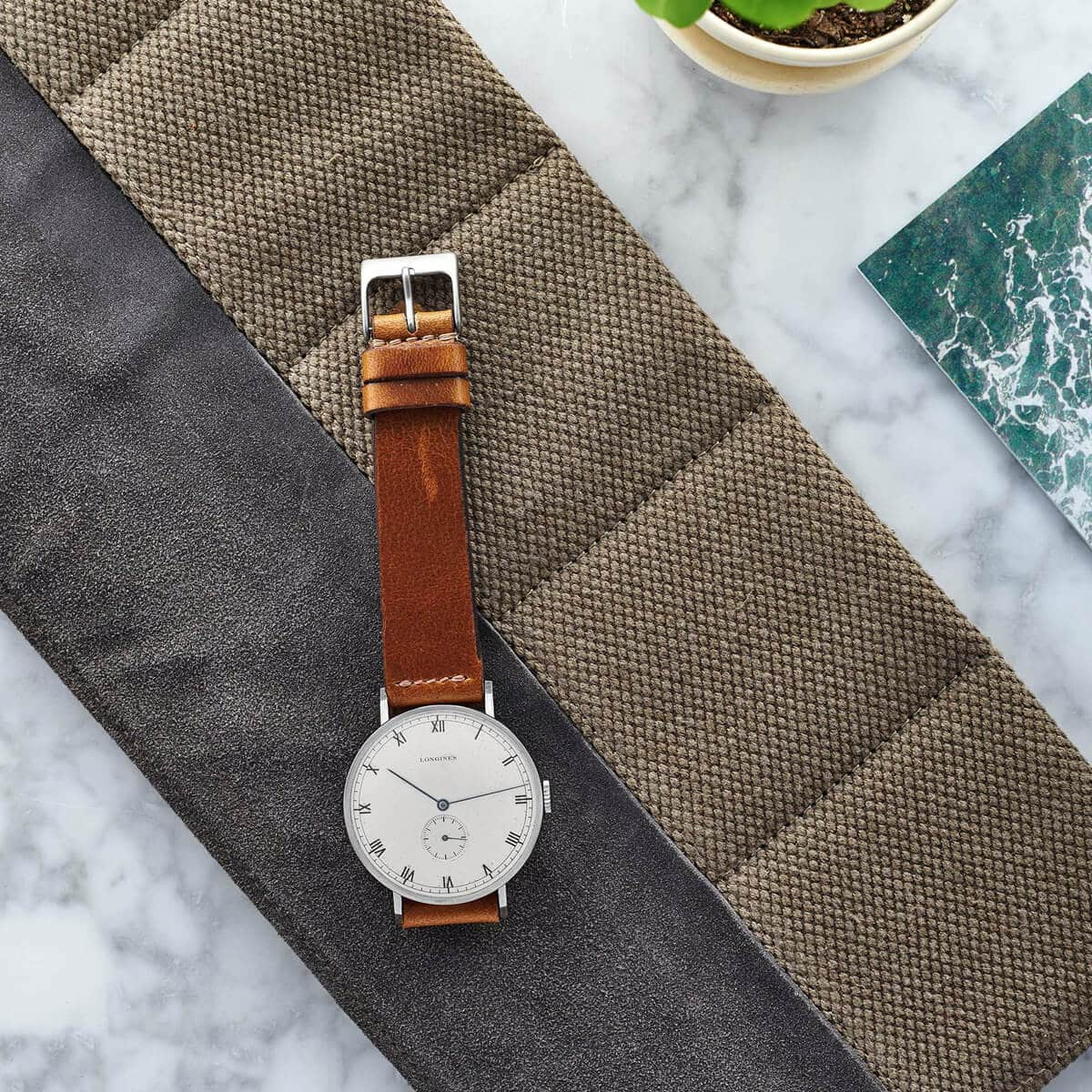 Hodinkee - Grey Canvas And Suede Roll For Six Watches