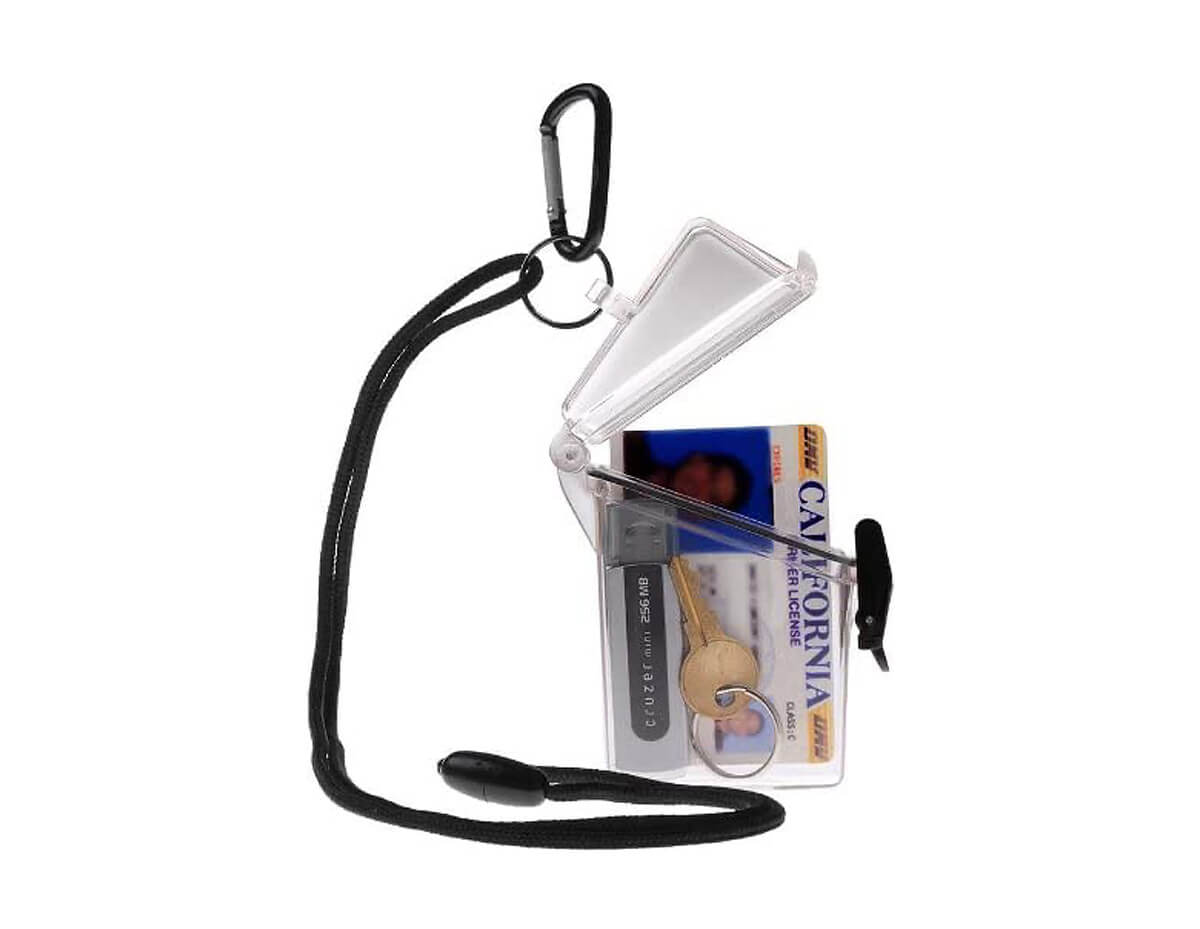 Witz See It Safe Small Clear Waterproof ID Badge Holder