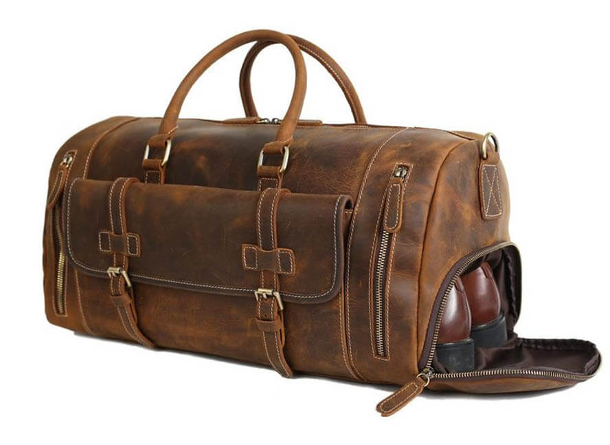 Gift and Grace AU Leather Duffle Bag
