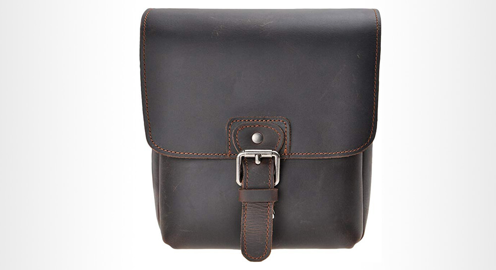 ZLYC - Small Leather Shoulder Camera Bag