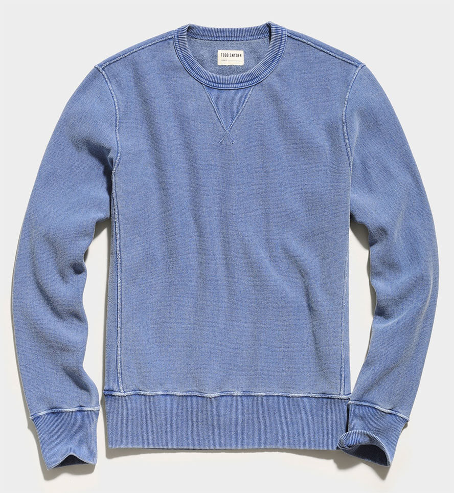 Issued By: Garment Dyed Crew Sweatshirt - Todd Snyder