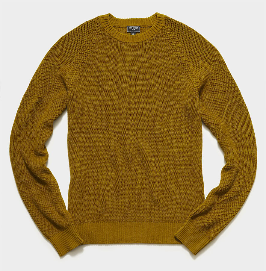Recycled Cotton Crewneck Sweater - Todd Snyder