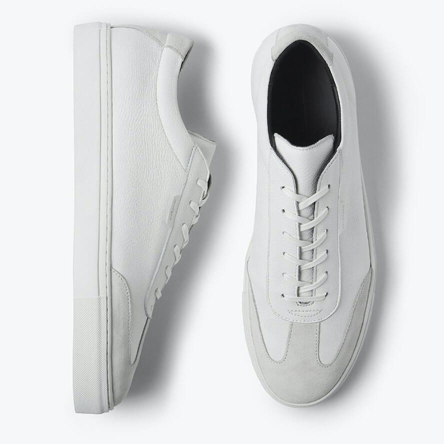 Uniform Standard - Series 3 White Tumbled Leather Men's Sneakers