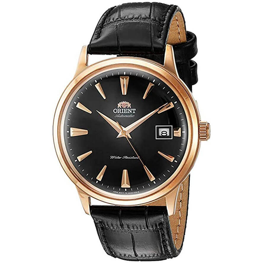 Orient Men's '2nd Gen Bambino Version I' Japanese Automatic Stainless Steel and Leather Dress Watch